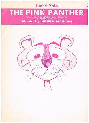 The Pink Panther Piano Solo Sheet Musc Henry Mancini Amazon Books