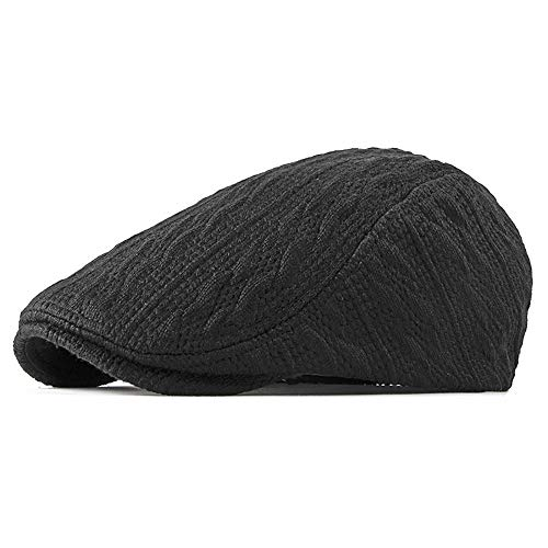 SXBag Unisex Winter Adjustable Flat Cap Knitted Newsboy Ivy Warm Plain Gatsby Casual Duckbill Irish Cap` (Color : 1, Size : Free Size)