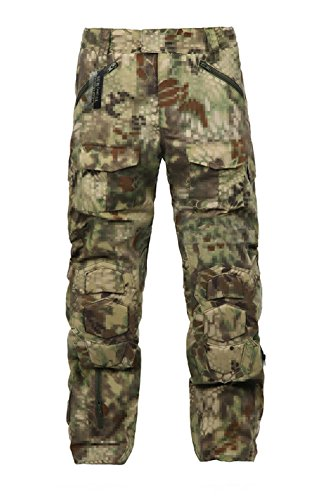 ZAPT Tactical Ripstop Combat Pants with Knee Protector Airsoft Paintball Military Camo Uniform Army Camouflage Trousers (Mandrake Camo, 42)