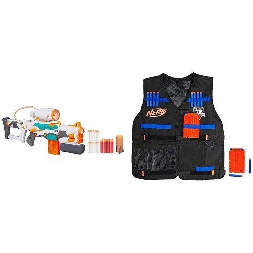 Nerf Modulus Tri Strike  And Nerf N Strike Elite Tactical Vest Kit Bundle Frustration Free Packaging Bundle