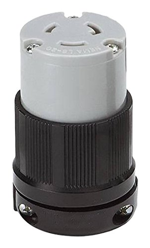 OCSParts L6-20R Grounding Locking Connector, 20A 250V AC, 2 Pole 3 Wire, cUL Listed, NEMA L6-20 by OCSParts