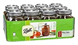 Ball Regular Mouth 16-Ounces Mason Jar with Lids and Bands (12-Units)