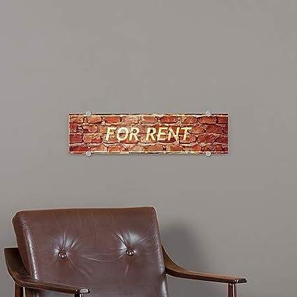 5-Pack CGSignLab 24x6 Ghost Aged Brick Premium Brushed Aluminum Sign for Rent