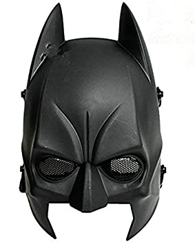 Worldshopping4U tech-p Batman máscara CS Airsoft Wargame Campo Media máscara proteger Ejército Cosplay Máscara