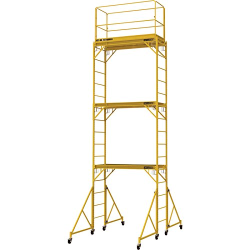 Metaltech Multipurpose 18ft. Maxi Square Triple Baker-Style Scaffold Tower Package - 1,000-Lb. Capacity, Model# I-T3CISC