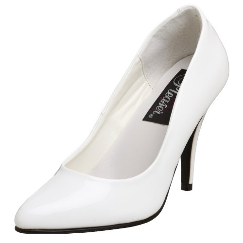 Pleaser Women's Vanity Pump,White Patent,5 (Basic B Costume)
