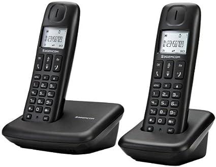 Sagemcom D142DUO - Teléfono inalámbrico con tecnología DECT: Amazon.es: Electrónica