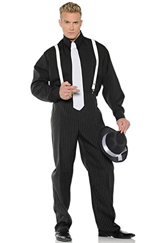 Mob Boss Mafia PinstripesTwenties Gangster Men Adult Costume