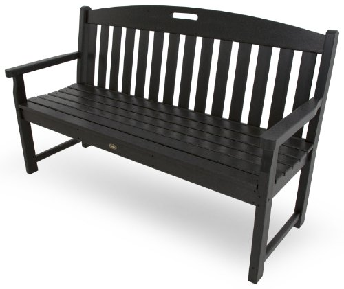 Trex Outdoor Furniture TXB60CB 60-Inch Yacht Club Bench, Charcoal Black For Sale