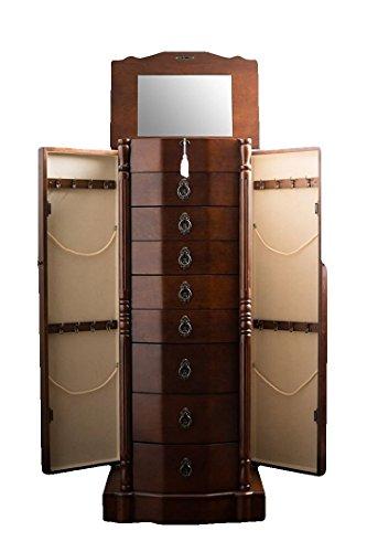- EFD Jewelry Armoire Closet Women Mirror Wooden Vintage Storage Cabinet Accesories Organizer Lockable & eBook byEasy&FunDeals