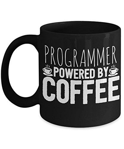 Programmer Coffee Mug 11 oz - Programmer Powered By Coffee - Funny Programmer Mug/Gift