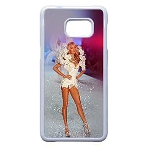 Hf71 Victoria Secret Mostrar Modelo Arte atractivo de la llamarada Samsung Galaxy S6 Edge + Plus caja del teléfono celular funda blanca del teléfono celular Funda Cubierta EEECBCAAJ78544