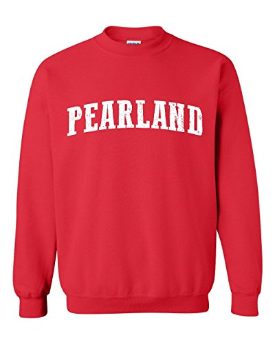 Pearland TX Texas Flag Houston Map Longhorns Bobcats Home Texas State Unisex Crewneck - Tx Pearland
