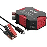 BESTEK 400W/500W Car Power Inverter DC 12V to AC 110V Car Inverter with 4 USB Charging Ports, Power Converter with 2 AC Outlets and Car Battery Clip Car Charger, Car Adapter (Upgrade Version)