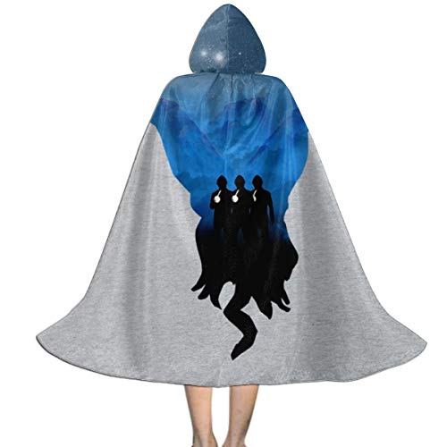 Doctor Who The OOD Silhouette Unisex Kids Hooded Cloak Cape Halloween Party Decoration Role Cosplay Costumes Outwear Black