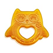 Haakaa Natural Owl Smiling Teether 100% Natural Malaysia Allergen Free Baby Teether