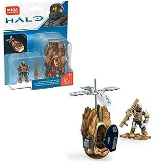 Mega Construx Halo Operation Bronze Cobra Drop Pod Micro Action Figure Building Set