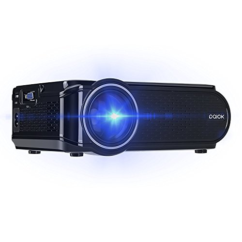 Paick 1200 Lumens Video Projector HD Multimedia Home Cinema Theater Support 1080P HDMI VGA for TV Laptop Games