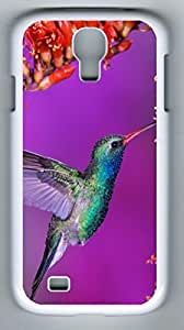 Beautiful Hummingbird Hard Cover Back Case For Samsung Galaxy S4,PC White Case for Samsung Galaxy S4 i9500