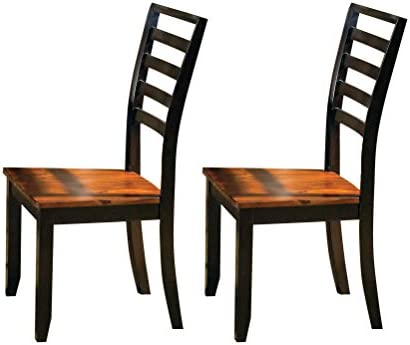 International Concepts Pair of Slat Back Chairs, Unfinished