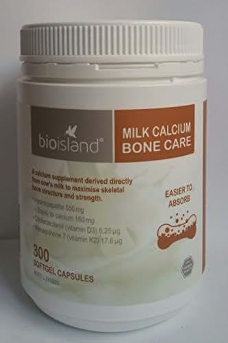 Bioisland Milk Calcium Bone Care 300 Softgel Capsules Made in New zealand