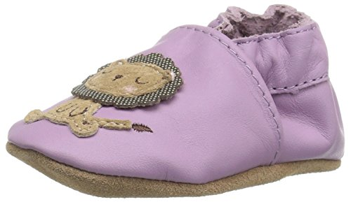 Robeez Girls Soft Soles  Traditional Silhouette Slip On  Lori The Lion Purple  18 24 Months M Us Infant