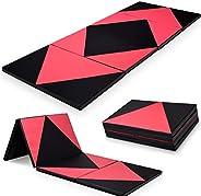 "4'x10'x2"" Thick Folding Panel Gymnastics Mat Gym Fitness Exerci"