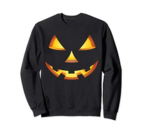 Spooky Halloween Jack-o-lantern Face Costumes Sweatshirt -