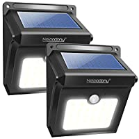 Solar Lights, Neloodony Solar Motion Sensor Security Lights 28 LED Waterproof Solar Powered Light Outdoor Lights for Garden, Fence, Patio, Yard, Walkway, Driveway, Stairs, Outside Wall etc. (2Pack)