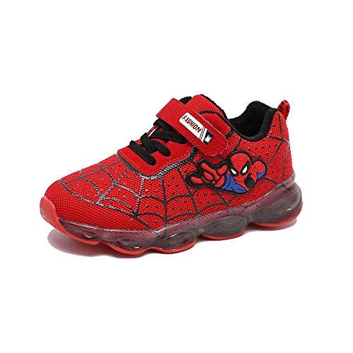 ANKIDS Kids Toddler LED Light up Shoes Boys Girls Spider-Man Shoes 12 Little Kid | -
