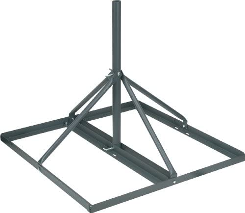 VMP FRM-125 Non-Penetrating Roof Mount 60-Inch Long 1.25-Inch OD mast, Grey