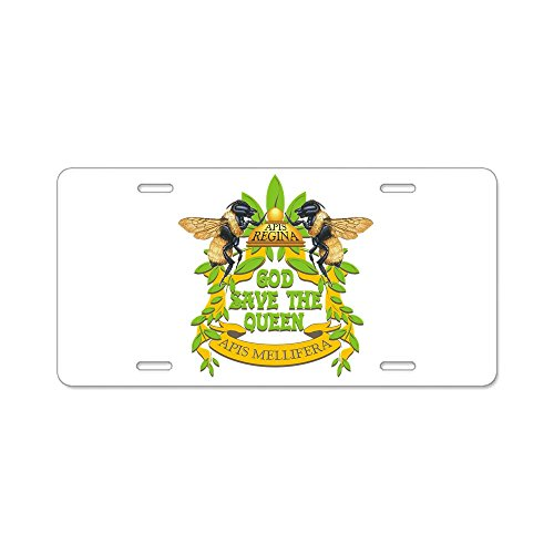 - CafePress - God Save The Queen - Aluminum License Plate, Front License Plate, Vanity Tag