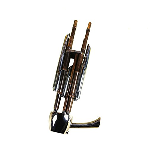 Natural purple bamboo, 14 Huang Chinese wind instrument Bamboo Sheng Flute ebony base,brass plating pipe