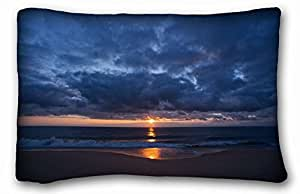 """Custom Cotton & Polyester Soft Nature DIY Pillow Cover Size 20""""X30"""" suitable for Twin-bed"""