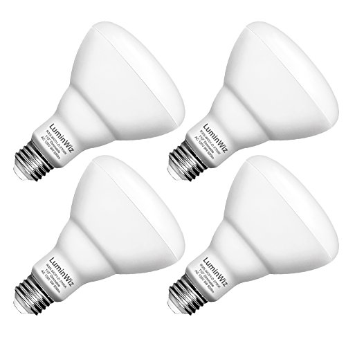 BR30 LED Bulbs, LuminWiz 9W Flood Light Bulb Dimmable, 65W Equivalent 2700K 650lm Warm White,Medium Base (E26),UL/Energy Star, Pack of 4 9w Led Spot Light Bulb