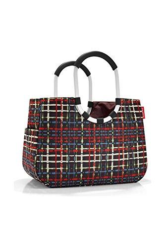 Loopshopper L Reisenthel, canasta para compras , bolso, cesto de compras, Patchwork Green, OR5032 multicolor