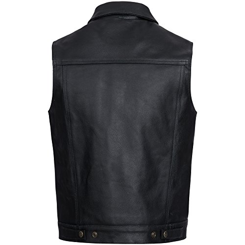 Gaudi-Leathers Chaleco de Cuero para Hombre Moto o Motocicleta Biker Moto: Amazon.es: Ropa y accesorios