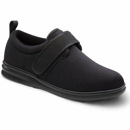Dr. Comfort Men's Carter Black Stretchable Diabetic Casual Shoes