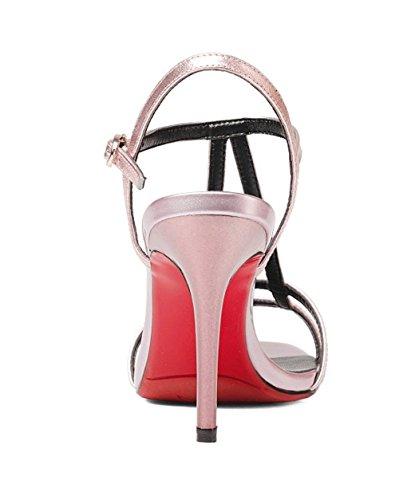 Mode Jazs® Style Confortables Talon Sexy La Confortable Hauts Sandales Couleur Haut Rose De Sweet Talons Pure Élégant À Fashion New BOqBrUw
