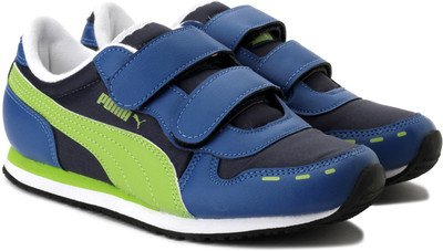 cdf4b685f3f Puma Unisex Cabana Velcro Blue Sports and Outdoor Shoes Kids Over 4 Years -  3-