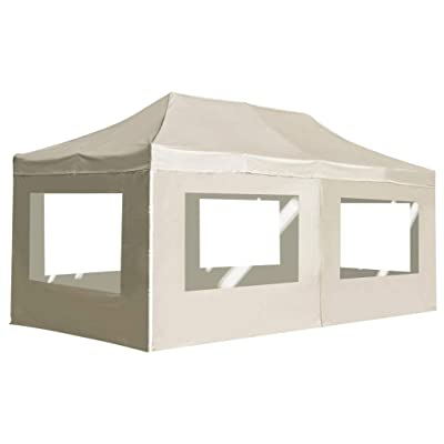 vidaXL Professional 236.2x118.1 inch Professional Folding Canopy Tent Commercial Instant Canopies Shelter Portable Gazebo Party Tent Shade Sun Shelter(Rust-Resistant Aluminium Alloy) Cream : Garden & Outdoor