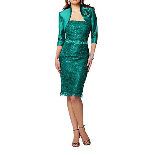 Etuikleider Braut Festlichkleider Spitze Abendkleider Marie Kurz Jaeger Gruen Glamour Traube La Brautmutterkleider Knielang gv5wSq