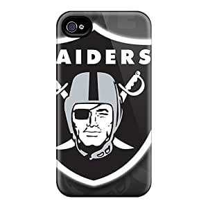 Premium Tpu Oakland Raiders Cover Skin For Iphone 4/4s
