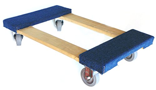 Nk Furniture Movers Dolly Soft Gray Non Marking Tpr Wheels 30 Length X 17 Width Blue 3