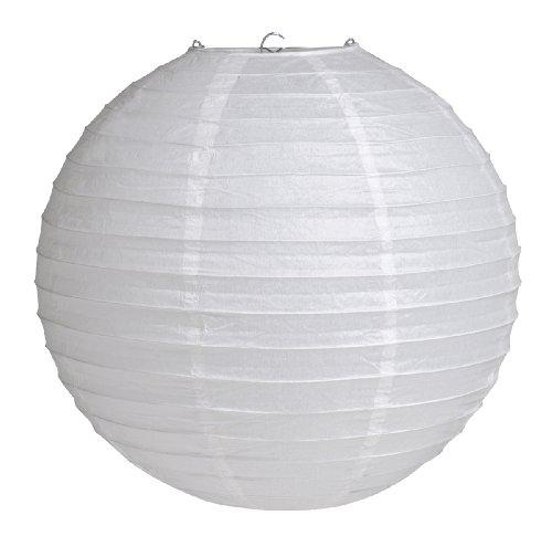 12' Round Hanging Paper Lantern, White