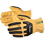 378GKVSBXL Endura Oilbloc Goatskin Anti-Impact Driver Gloves, Size Extra Large