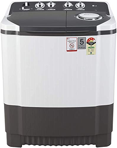 LG 7 Kg 4 Star Semi-Automatic Top Loading Washing Machine (P7020NGAY, Dark Gray, Collar scrubber) 2021 June Semi-automatic washing Machine: Economical, Low water and energy consumption, involves manual effort; Has both washing and drying functions Capacity 7.0 kg (wash): Suitable for large families Energy rating 4: High energy efficiency