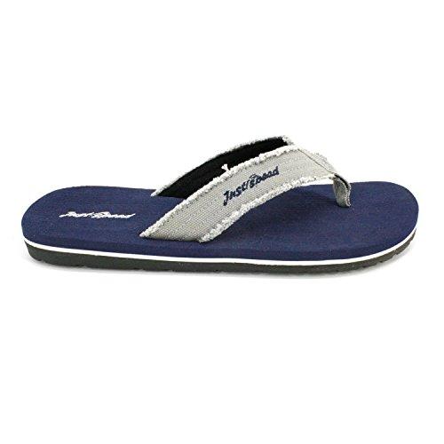 Bare Fart Menn Sandaler - Flip Flops, Pluss Størrelser 13, 14, 15, Pute Fotseng Og Fleksibel Yttersåle Navy