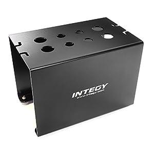 Integy RC Model Hop-ups C27284BLACK Aluminum Alloy Off-Road Car Stand Workstation for 1/10 & 1/8 Size(170x110x125mm)