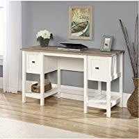 Mifflin Writing Desk with 2 Drawer and 2 Shelves - Soft White